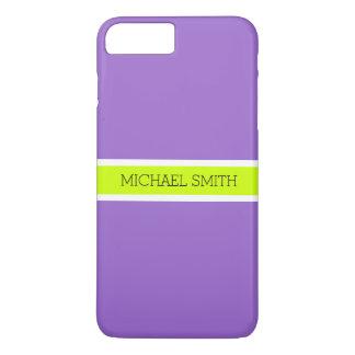 Capa iPhone 8 Plus/7 Plus Nome elegante moderno do fundo Amethyst liso