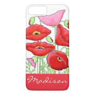 Capa iPhone 8 Plus/7 Plus Nome feito sob encomenda da arte cor-de-rosa