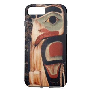 Capa iPhone 8 Plus/7 Plus O Alaskan cinzelou o Totem pólo projetado