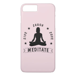 Capa iPhone 8 Plus/7 Plus O amor vivo do riso Meditate o texto fêmea (o