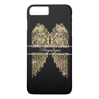 Capa iPhone 8 Plus/7 Plus O anjo dourado do olhar da jóia do diamante de n