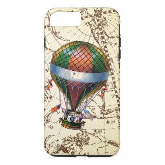 Capa iPhone 8 Plus/7 Plus O balão de ar quente flutua no fundo do zodíaco