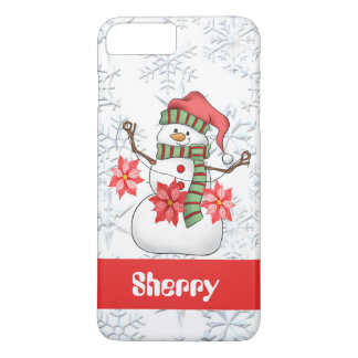 Capa iPhone 8 Plus/7 Plus O boneco de neve da aguarela adiciona o caso sete