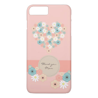 Capa iPhone 8 Plus/7 Plus O coração deu forma a flores para dizer o obrigado