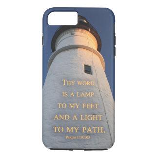 """Capa iPhone 8 Plus/7 Plus O farol """"Thy palavra é exemplo cristão de uma"""