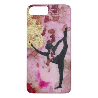 Capa iPhone 8 Plus/7 Plus O iPhone da menina da ioga/a caixa originais
