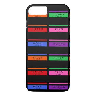 Capa iPhone 8 Plus/7 Plus O nome de etiqueta colorido olá! meu nome é Hola