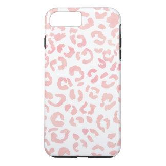 Capa iPhone 8 Plus/7 Plus O Pastel cora aguarela cor-de-rosa do teste padrão