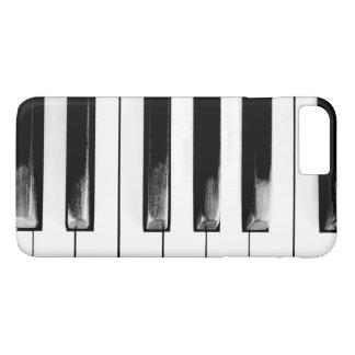 Capa iPhone 8 Plus/7 Plus O piano antigo fecha o teclado