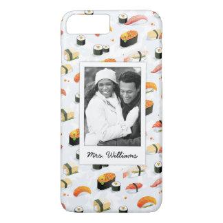 Capa iPhone 8 Plus/7 Plus O teste padrão japonês | do sushi da comida |