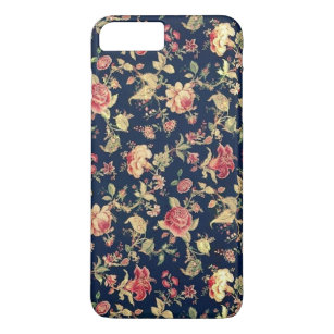 Capa iPhone 8 Plus/7 Plus O vintage elegante floral aumentou
