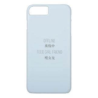 Capa iPhone 8 Plus/7 Plus off line, namorada da alimentação