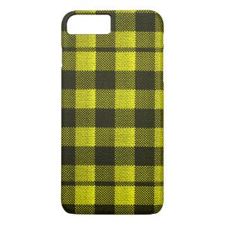 Capa iPhone 8 Plus/7 Plus Olhar Checkered de serapilheira do teste padrão do