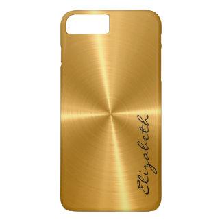 Capa iPhone 8 Plus/7 Plus Olhar de aço inoxidável do metal do ouro
