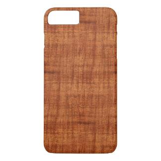 Capa iPhone 8 Plus/7 Plus Olhar de madeira da grão da acácia encaracolado