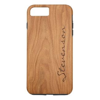 Capa iPhone 8 Plus/7 Plus Olhar de madeira personalizado - textura de