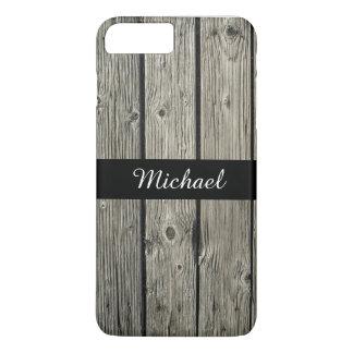 Capa iPhone 8 Plus/7 Plus Olhar de madeira resistido rústico velho