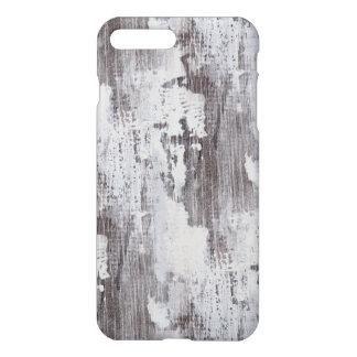Capa iPhone 8 Plus/7 Plus Olhar Whitewashed Maui afligido da grão da madeira
