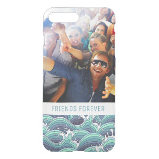 Capa iPhone 8 Plus/7 Plus Onda decorativa feita sob encomenda do mar da foto