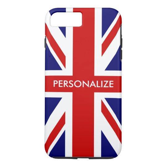 Capa iPhone 8 Plus/7 Plus Orgulho inglês da bandeira britânica de Union Jack