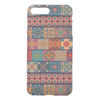 Capa iPhone 8 Plus/7 Plus Ornamento de talavera do mosaico do vintage