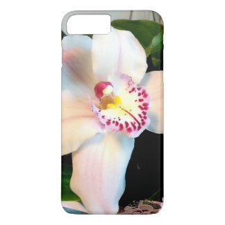 Capa iPhone 8 Plus/7 Plus Orquídea branca do Cymbidium