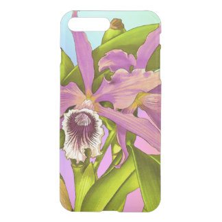 Capa iPhone 8 Plus/7 Plus Orquídeas cor-de-rosa coloridas