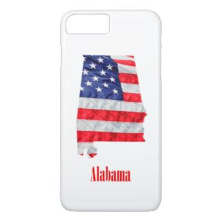 Capa iPhone 8 Plus/7 Plus Os Estados Unidos de Alabama da bandeira americana