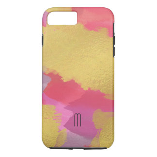 Capa iPhone 8 Plus/7 Plus Ouro do falso & iPhone cor-de-rosa 8 Plus/7 mais a