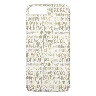 Capa iPhone 8 Plus/7 Plus Palavras inspiradas do ouro