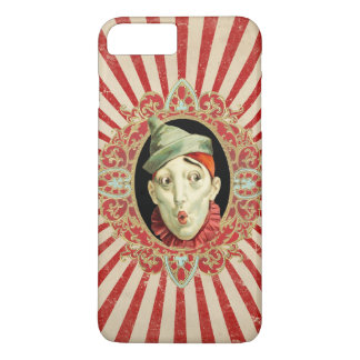 Capa iPhone 8 Plus/7 Plus Palhaço de circo do vintage com as listras