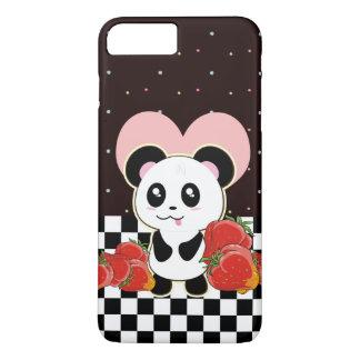 Capa iPhone 8 Plus/7 Plus Panda de Kawaii bonito