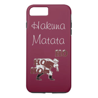 Capa iPhone 8 Plus/7 Plus Papai noel especial bonito Hohoho Hakuna Matata