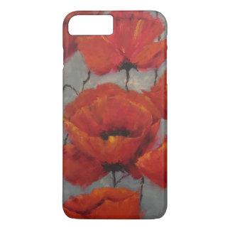Capa iPhone 8 Plus/7 Plus Papoilas vermelhas