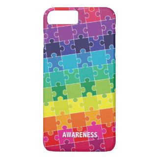 Capa iPhone 8 Plus/7 Plus Partes coloridas do quebra-cabeça da consciência