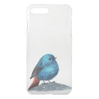 Capa iPhone 8 Plus/7 Plus Pássaro azul pequeno
