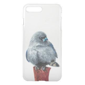 Capa iPhone 8 Plus/7 Plus Pássaro cinzento pequeno