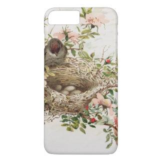 Capa iPhone 8 Plus/7 Plus Pássaro do vintage no iPhone animal do impressão
