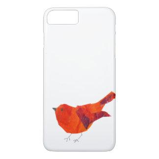 Capa iPhone 8 Plus/7 Plus Pássaro vermelho bonito