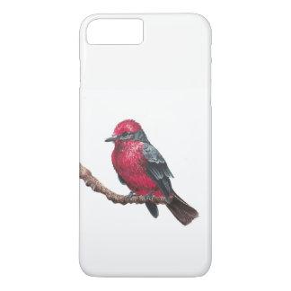 Capa iPhone 8 Plus/7 Plus Pássaro vermelho pequeno