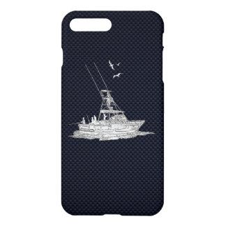 Capa iPhone 8 Plus/7 Plus Pesca de esportes do cromo na fibra do carbono