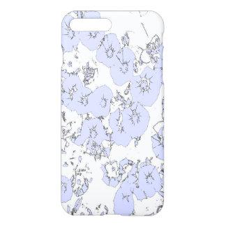 Capa iPhone 8 Plus/7 Plus Petúnias azuis