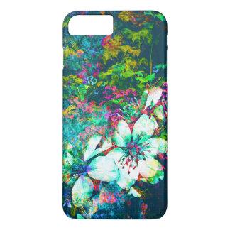 Capa iPhone 8 Plus/7 Plus Pintura floral botânica das folhas e das videiras