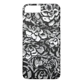Capa iPhone 8 Plus/7 Plus Plantas de preto e branco