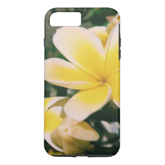 Capa iPhone 8 Plus/7 Plus Plumeria amarelo