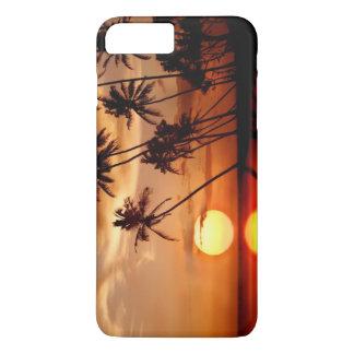 Capa iPhone 8 Plus/7 Plus Por do sol com árvores do Pam