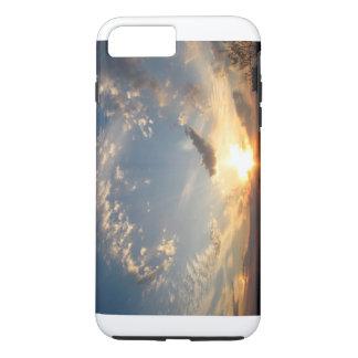 Capa iPhone 8 Plus/7 Plus Por do sol do céu azul