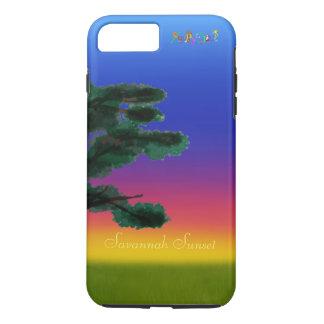 Capa iPhone 8 Plus/7 Plus Por do sol do savana pelos Feliz Juul Empresa