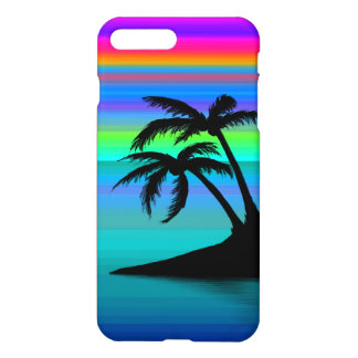 Capa iPhone 8 Plus/7 Plus Por do sol tropical da ilha