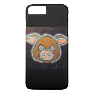 Capa iPhone 8 Plus/7 Plus Porco de néon